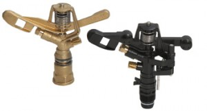 plastic and brass sprinkler
