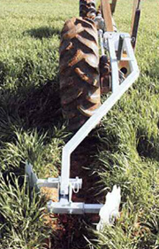 eliminating the formation of wheel track furrows