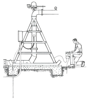 Pivot system check for presence of hazardous voltage