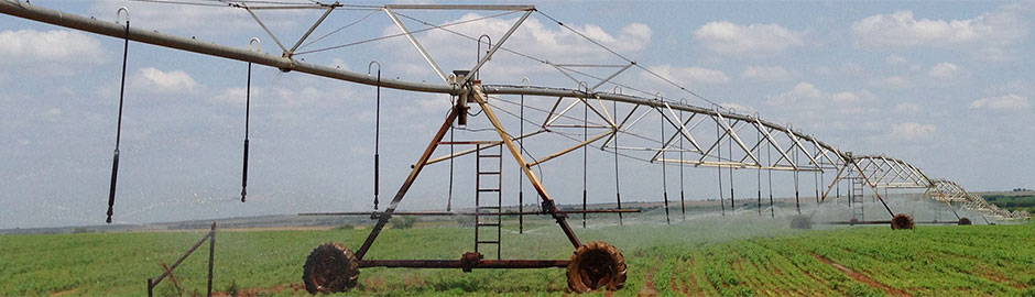 sprinkler packages on a center pivot